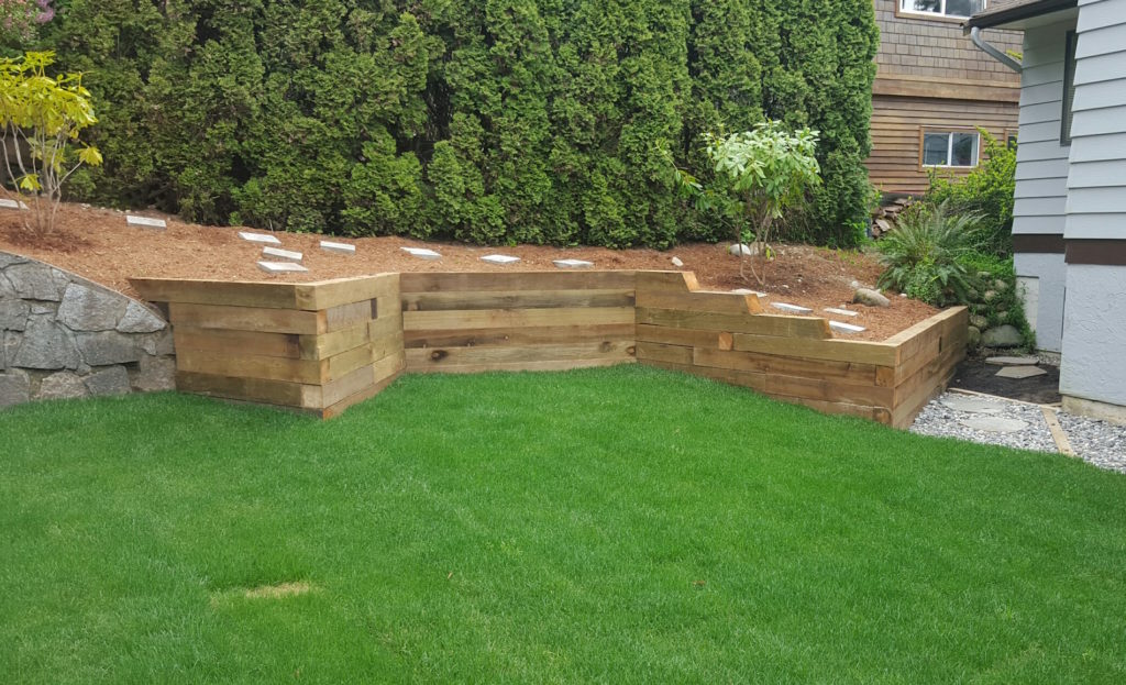 Timber / Wooden Pressure Treated Retaining Wall