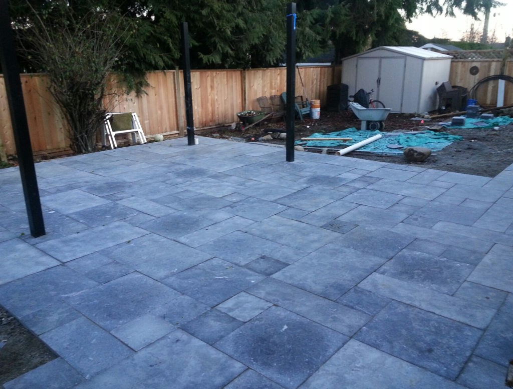 Limestone Paving Stone Patio